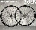 Winowsports 26er горный велосипед Углеродные колеса дисковый тормоз mtb 26 дюймов углеродное колесо