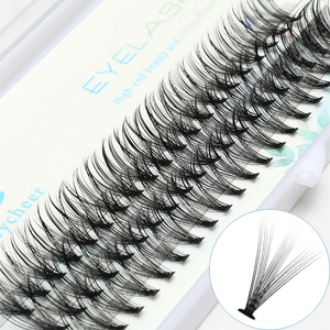 Image 4 - ICYCHEER Pro 8 12mm 0.07/0.10 C Curl Makeup Individual Lashes Thick Natural Individual Cluster Eyelashes Extension