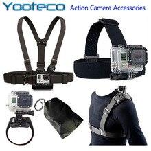 Для GoPro Аксессуары комплект Глава ремень нагрудный ремень ремешок сумка ремешок для Go Pro 5 SJCAM SJ4000 SJ6 SJ7 M20 Xiaomi Yi Экен H9 Cam