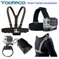 GoPro Accessories Kit Head Belt Chest Belt Wrist Strap Bag Strap for Go pro 4 3+ 3 SJCAM SJ4000 sj5000 Xiaomi Yi EKEN H9 H9R Cam
