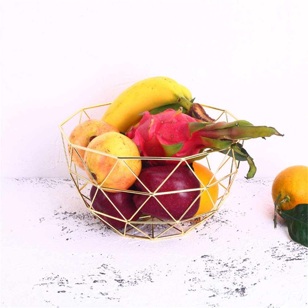 Nórdico Grande Cesta De Frutas De Ferro Moderna Sala de Lanche Cesta de Frutas Cesta De Armazenamento De Mesa De Metal Decoração de Casa
