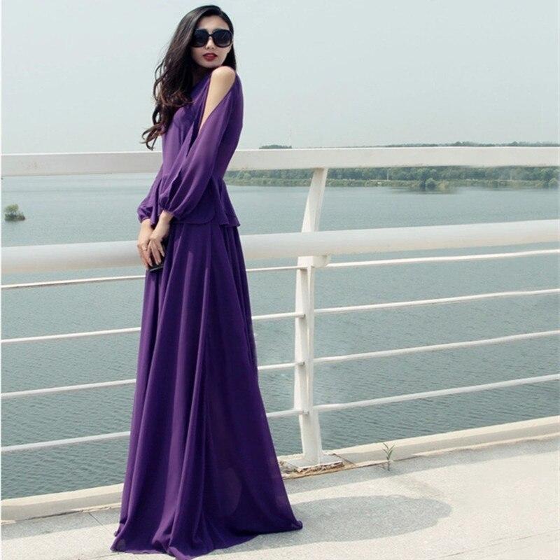 maxi jurk paars