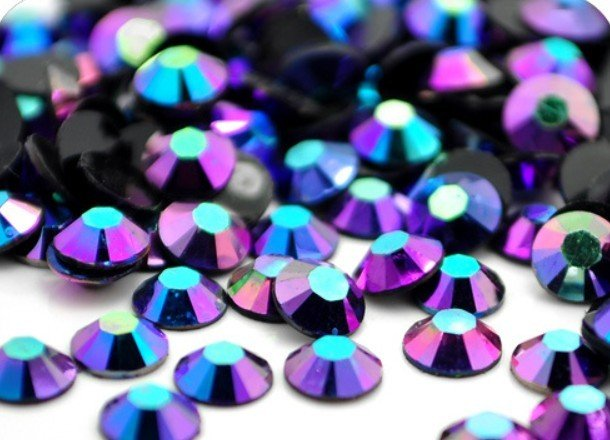AAA+ Blue-violet AB Resin Flatback beads for Nail Art/Garment/Decoration(2mm 3mm 4mm 5mm 6mm)10000pcs/bag