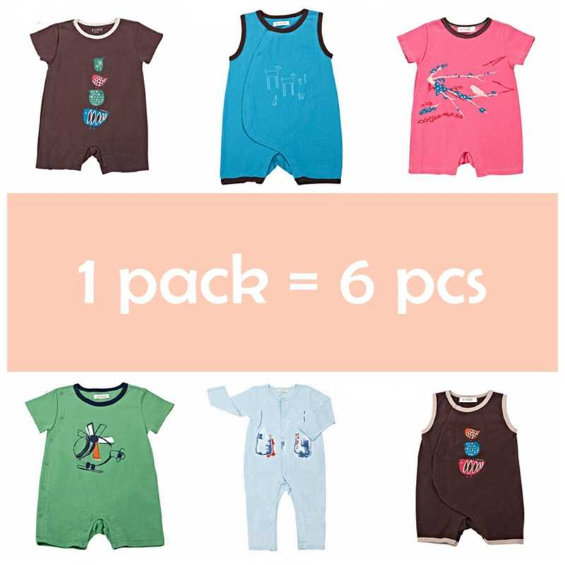 I-ベビー 1-6 ピース/セット綿ベビーロンパース幼児ジャンプスーツ新生児男の子女子 roupas デ bebe のベビー服