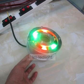 12 V aquarium led chiếu sáng 5 Wát 6 Wát Bridgelux DẪN IP68 led light hồ bơi trắng RGB vàng xanh đỏ zwembad verlichting miễn phí tàu 6 cái