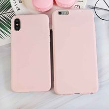 "Luxe Licht Roze Zachte Siliconen Telefoon Case Voor Iphone X Xr Xs Max 5 5S Se 6 6S 7 8 Plus 11 2019 6.5 ""Cover Coque Fundas(China)"