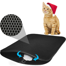 Waterproof Pet Cat Litter Mat Double Layer Trapping Clean Pad Products For Cats Accessories