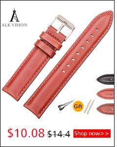 Alk pulseira de relógio de couro pulseira