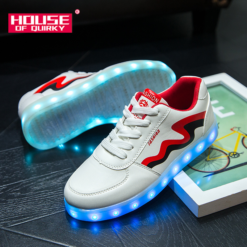 2019 New women Flat Bottom Breathable Light Up Shoes girls USB Recharge Glowing Sneakers boys Fashion Luminous Shoes#35-442019 New women Flat Bottom Breathable Light Up Shoes girls USB Recharge Glowing Sneakers boys Fashion Luminous Shoes#35-44