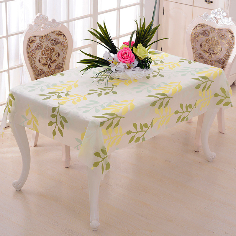 Customized Overlay Tablecloth Waterproof PVC Party Catering Activities Tableware Coffee Tablecloth D 39 Waterproof Tablecloth in Tablecloths from Home amp Garden