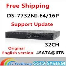Original English Version DS-7732NI-E4/16P 32CH 16 POE NVR IP Camera Network Video Recorder Support Frmware Upgrade