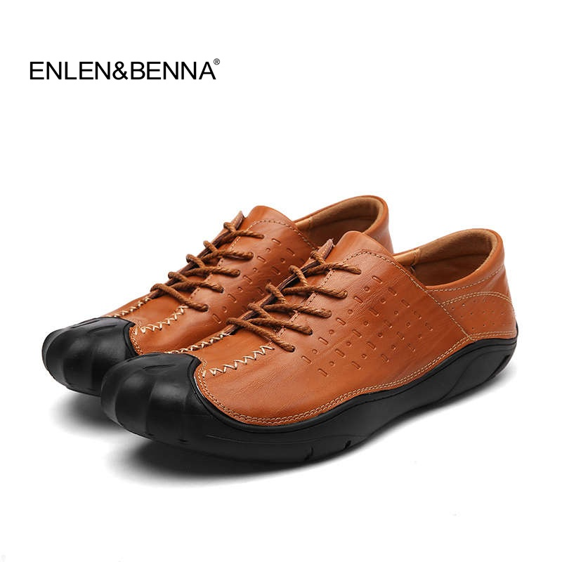 Enlenbenna 2017 Brand Flats New Arrival Casual Men Genuine Leather Loafers Shoes Plus size 38-44 Handmade Moccasins Shoes club 2017 new casual oxfords flats brand men genuine leather loafers shoes handmade moccasins shoes mens shoes large sizes 38 47