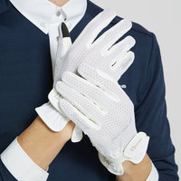 Comfortable and skid resistant breathable thin equestrian gloves