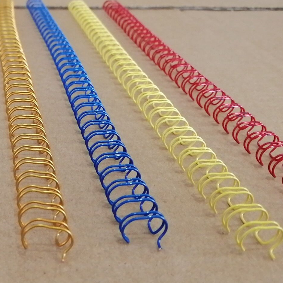 100PCS/BOX A4 Size 3:1 Pitch 34 Rings 6.4-14.3mm Color Steel Iron Double Loop Wires Binding Wire Combs Binding Rings