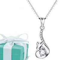 Nhất mới nhất rắn 925 Sterling bạc vòng cổ trượt Swann Pendant Trang sức cho nữ giá rẻ Vận chuyển miễn phí Custom vòng cổ cá nhân