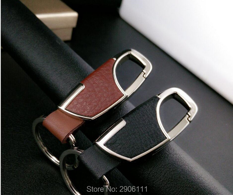 car styling Leather Key Chain Metal Car Key Ring Multifunctional Tool Key Holder for Honda fit accord crv civic jazz city hrv metal ring holder for smartphones silver