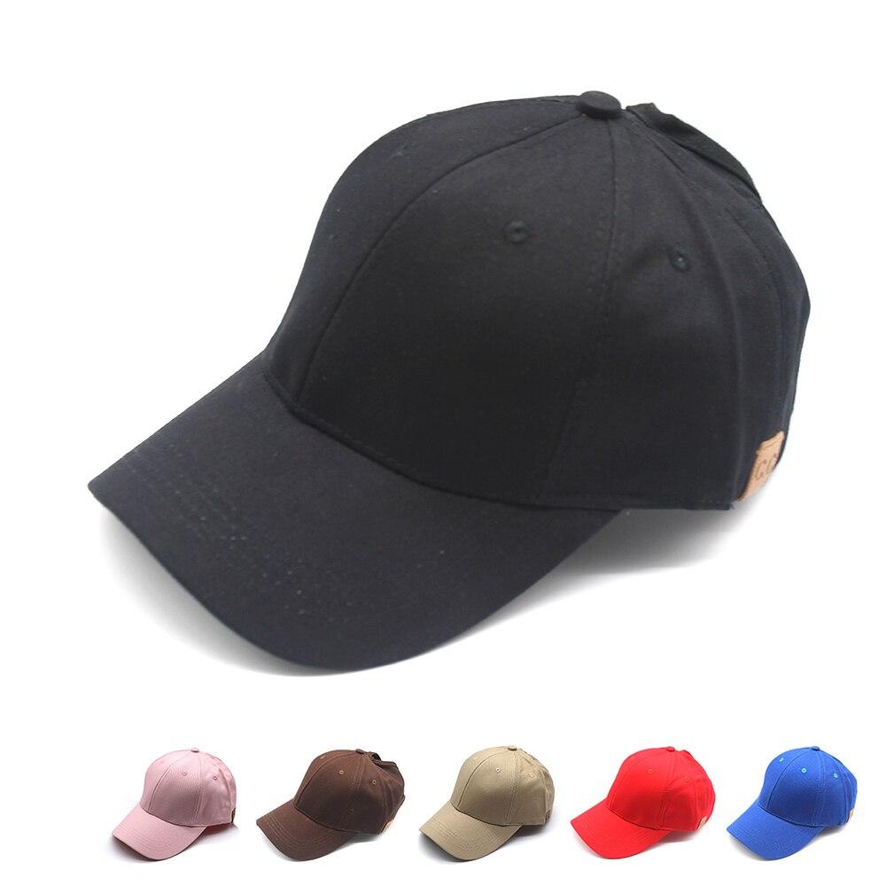 2019 Ladies Ponytail   Baseball     Cap   Women Bun Snapback Summer Hats Simple Solid Casual Sport   Caps   Drop Shipping Hat   Cap
