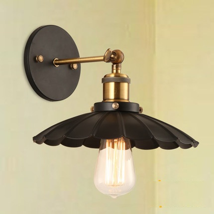 Loft Style Iron Vintage Wall Lamp Bedside Wall Light Fixtures For Dining Room Edison Wall Sconce Indoor Lighting Lampara loft style edison decorative wall sconce mirror wall light fixtures vintage industrial lighting wall lamp for home lampara