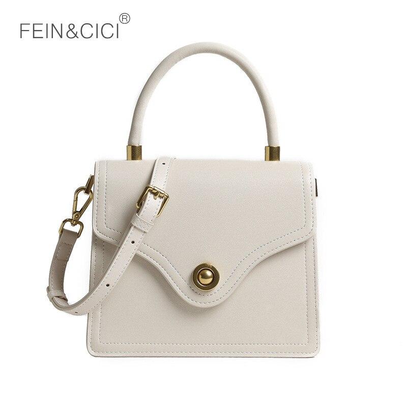Box bag leather messenger bag crossbody handbag women vintage retro bags 2019 luxury brand wholesale drop shipping beige black