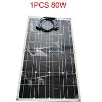 80W 160W 18V Flexible Solar Panels China Semi Flexible Solar Panel Monocrystalline 12V Battery Panels Solar Charger