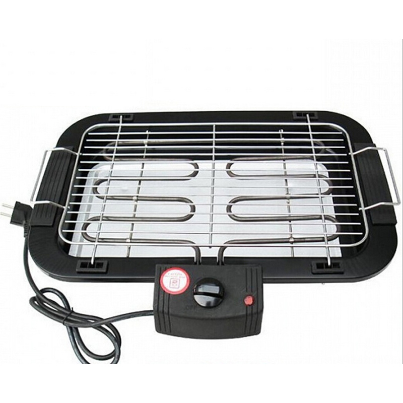VOSOCO Electric grill Electric oven BBQ multi function stainless steel smoke free electric barbecue oven 2000W High-power 5 gear