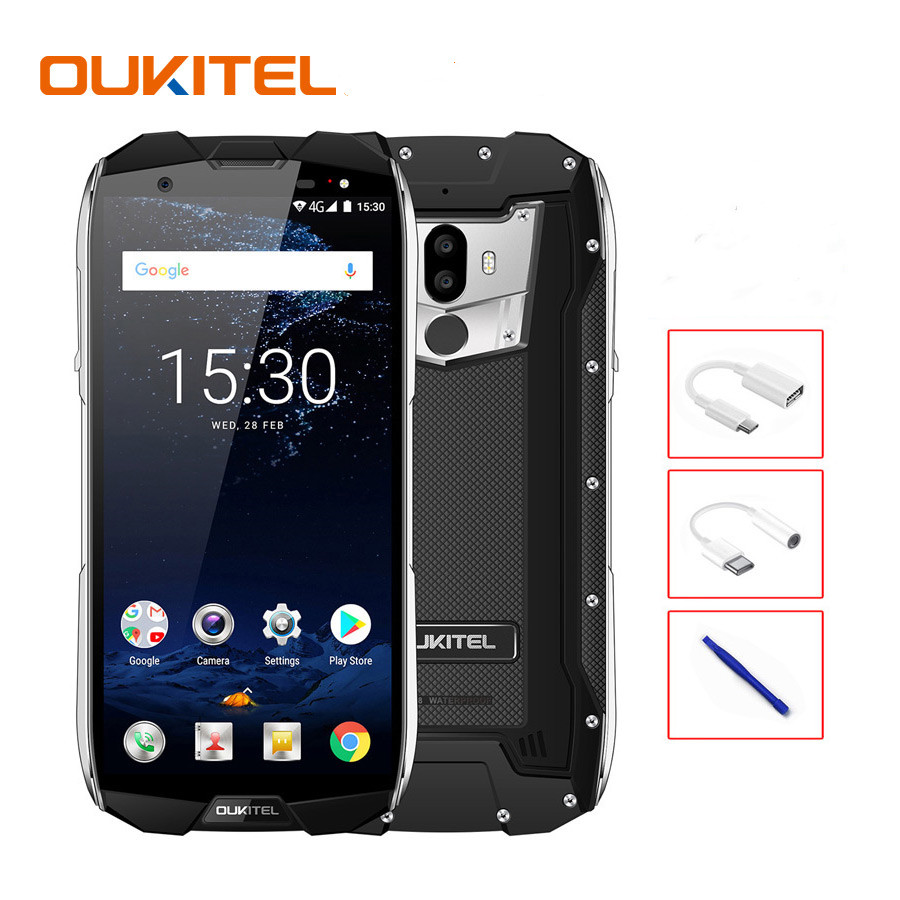 OUKITEL WP5000 IP68 Waterproof  5.7 inch Smartphone Android 7.1  6GB RAM+ 64GB ROM 5200mAh 8 MP+16 MP Mobile Phone Dual SIM Card(China)