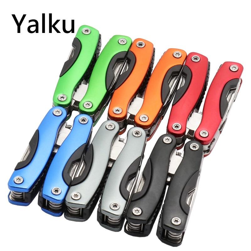 Yalku Multitool Pinze combinate Pinze per coltelli pieghevoli File Mascelle Seghe Utensili manuali Pinze Utensili multifunzione 6 Colori