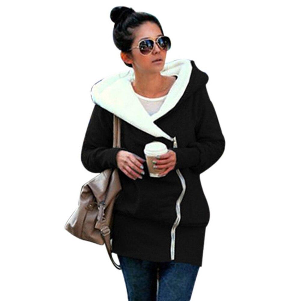 New Autumn Winter Women Hoodies Sweatshirt Coat Warm Zipper Hooded Sweatshirts Tracksuit Casual Women XXXL Plus Size Long Jacket