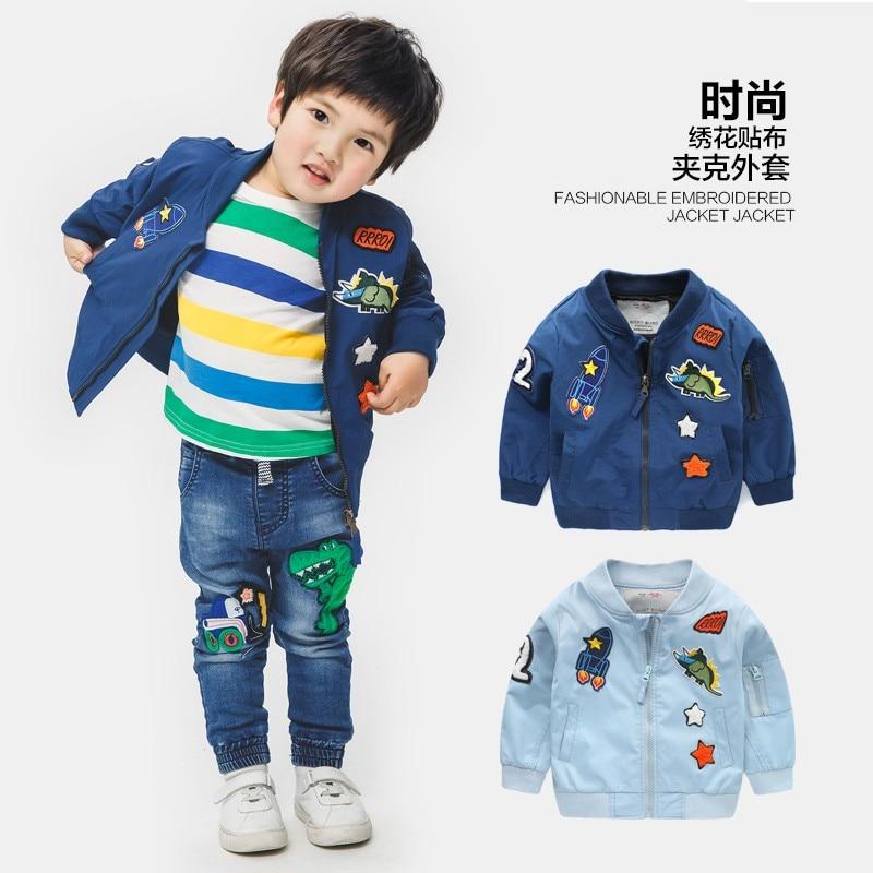 2019 Primavera Outono Jaquetas para o Menino Casaco Jaqueta Moda Blusão Jaqueta do Menino Das Crianças Dos Miúdos Do Bebê Roupas 2- 8 T