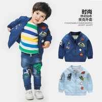 2019 chaquetas de primavera y otoño para abrigo de niño chaqueta de bombardero de moda chaqueta rompevientos para bebé niños ropa 2- 8 T