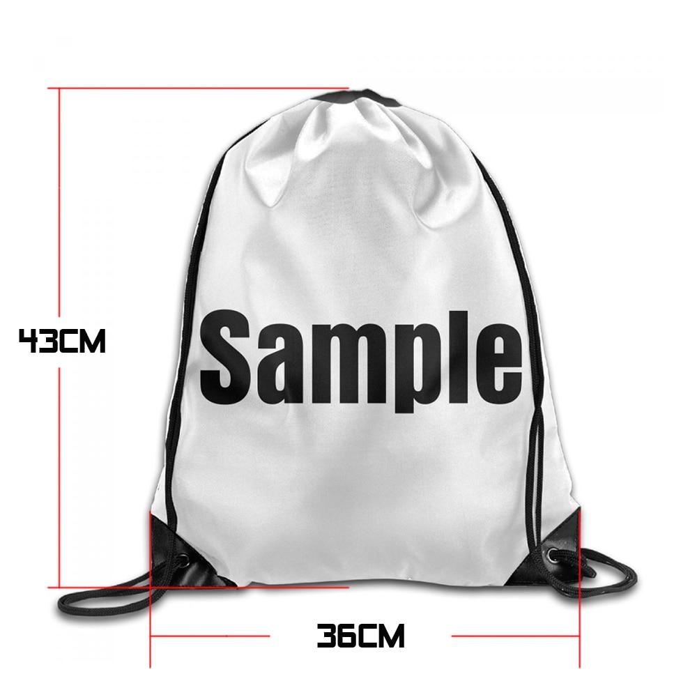 Samcustom 3d Print Donuts Panda Shoulders Bag Women Fabric Backpack Girls Beam Port Drawstring Travel Shoes Dust Storage Bags #2