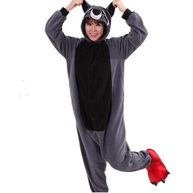 Унисекс пижамы енот женские пижамы цельные Животные Китайский рынок онлайн  мужские забавные пижамы взрослые зимние комбинезоны 8e5691093079c