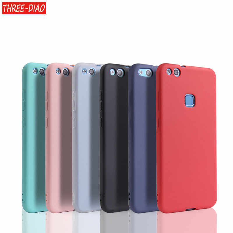 Matte Clear Soft Silicone TPU Case For Huawei P20 Lite P20 Pro P10 P9 P8 Lite 2017 Plus Honor 8 9 10 Lite 6A 7A Cover Red Black