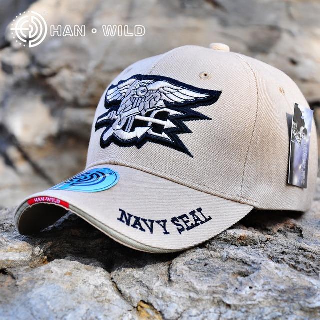 HAN Marca SELVAGEM Marinha Boné de Beisebol Chapéus Táticos Selos Caps  Canvas Novo Exército Das Forças 72df2fc3d75