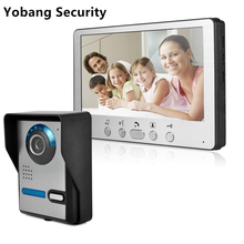 Freeship Yobang bezpieczeństwa IR Night Vision dla drzwi do willi dzwonek do 7 TFT LCD kolorowy wideodomofon intercom System tanie tanio 7inch Cmos 110V-240V Przewodowy Jeden do jednego wideo domofon Do Montażu na ścianie Głośnomówiący Cyfrowy 815FA11