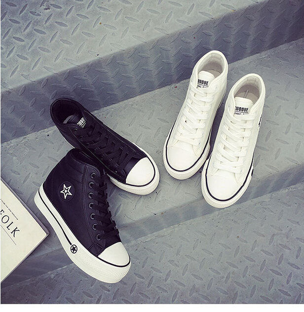 Free Shipping Spring and Autumn Men Canvas Shoes High Quality Fashion Casual Shoes Low Top Brand Single Shoes Thick Sole 7583 -  -  (4) -  -  -  -  -