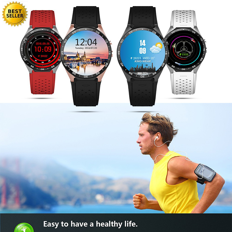 Montre de mode Montre Smart Watch 3G Précis GPS Caméra 2.0 Mega Sport Vie Étanche Intelligent Moniteur de Fréquence Cardiaque Versa Montre
