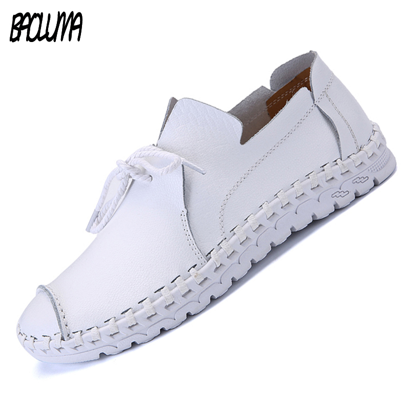 Large Size 38-47 Men Leather Casual Shoes Loafers Fashion Men Shoes Moccasins Chaussures Flats Male Breathable Driving Shoes