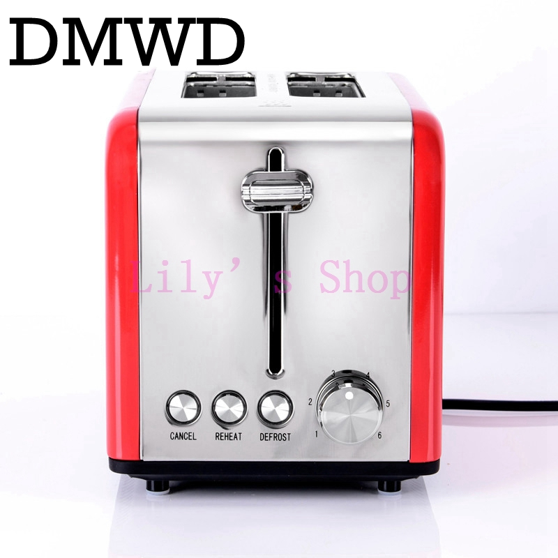DMWD MINI Household bread maker electrical toaster cake Cooker 2 slices Pieces automatic breakfast toasting baking machine EU US inc 5858 new womens blue printed embellished open shoulder blouse top s bhfo
