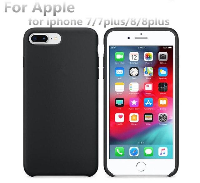 AAAA + CALIDAD con logotipo oficial de silicona líquida de microfibra suave cojín caja del teléfono para iphone 7 plus 8 plus con caja de venta al por menor