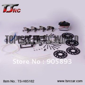 Free shipping!R/C racing car baja 4Wheel Hydraulic Disc Brake System-- Baja  Parts!(85182) купить