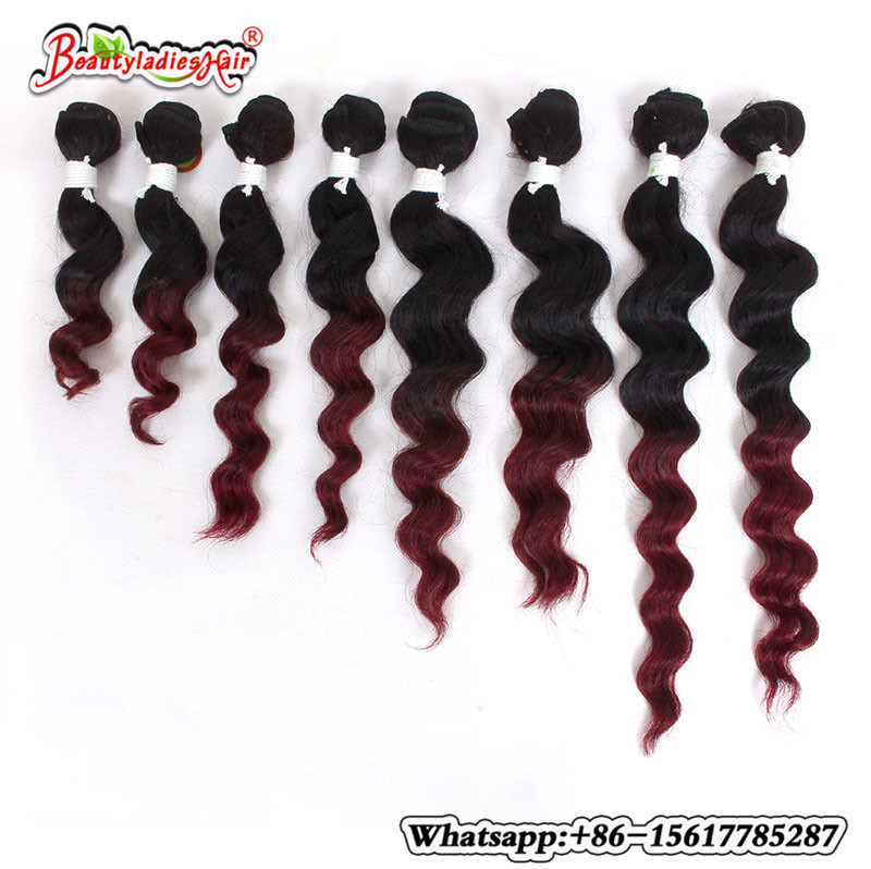 Eunice Hair Products 8Bundle Deep Curly Brazilian Kinky Curly - Syntetiskt hår - Foto 2