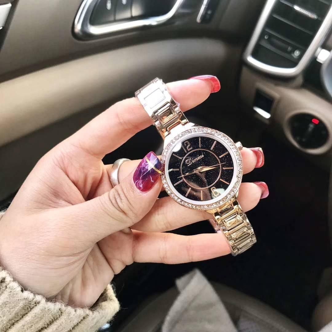 Women Dress Watch Rose Gold Stainless Steel Rosefield Watch Fashion Lady Wristwatch Creative Quartz Clock Cheap Luxury Watches fashion men s large creative quartz stainless steel dress watch