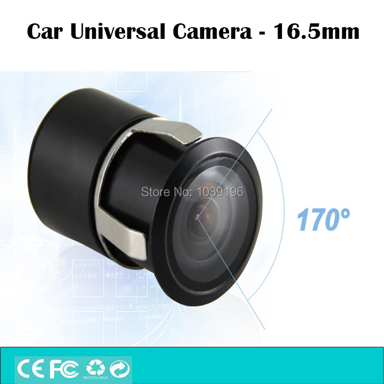 Universal Mini Color Reverse Backup Car Rear View Camera 16.5mm 480 TVL 170 Degrees Waterproof IP67 For All The Car Models