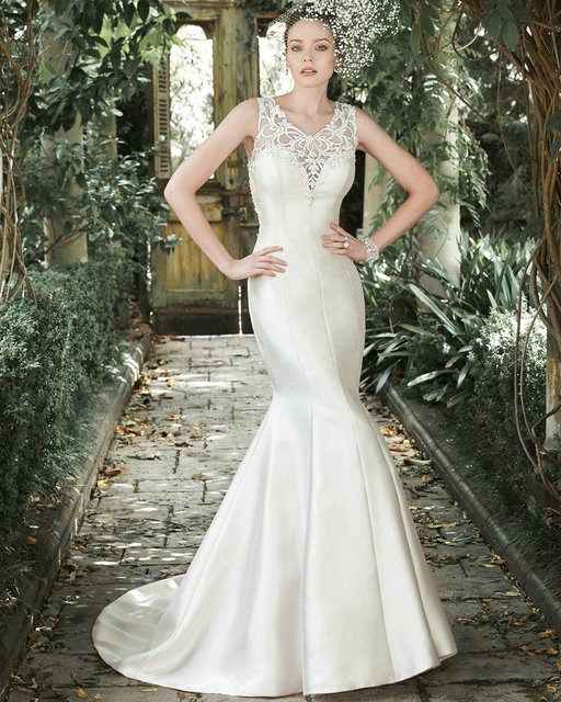 Sheer Wedding Gown Sparkly Sleeveless Vintage Couture Dresses ...