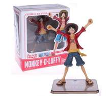 HKXZM Anime One Piece 17CM 2 years Dead or Alive Lucy Monkey D Luffy PVC Figures Collectible Toys Model(China)