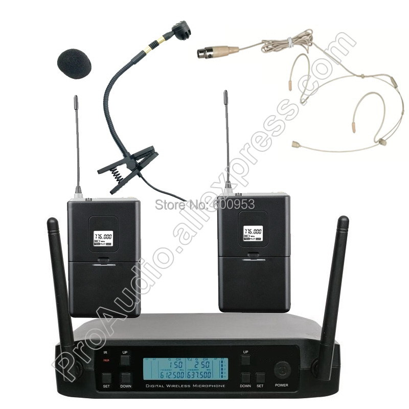 MICWL D220ie Wireless 1 vocal Headset Sax. Instrument Microphone System for Saxophone piano violoncello violin etc. instrument
