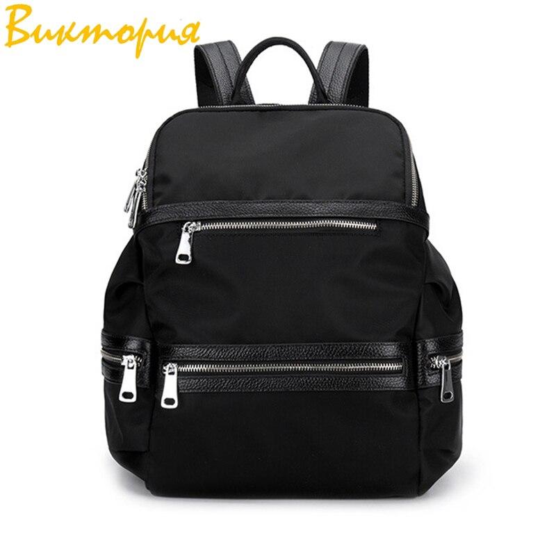 Sac à dos en tissu Oxford CHARA'S sac de voyage Anti-vol sac à dos femme Wangka USB sacs à dos blanc cassé 2019 nouveau
