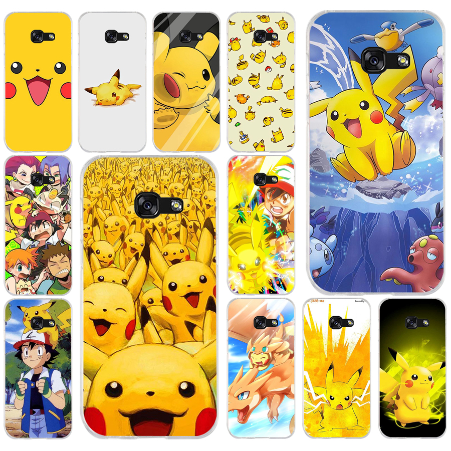 265FG Pokemons Characters Soft Silicone Tpu Cover phone Case for Samsung a3 2016 a5 2017 a6 plus a7 a8 2018 s6 7 8 9 image