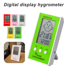 Baby Smile Crying Face Humidity Meter Digital LCD Thermometer Hygrometer Weather Station Tester Temperature clock